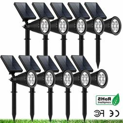 1- 10 Pack Solar Power LED Spot Light Outdoor IP67 Lawn Path