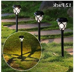 MAGGIFT 12 Pack Solar Powered Lights Outdoor Pathway Lights,