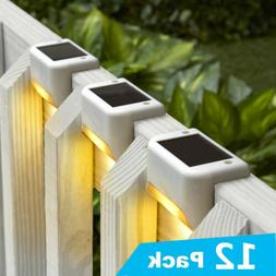 Solar Powered LED Deck Lights Outdoor Path Garden Stairs Ste