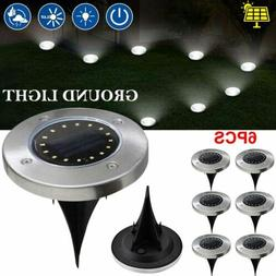 16LED Solar Power Buried Light Under Ground Lamp Outdoor Pat