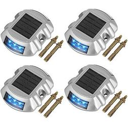 4 PCs Solar LED Marker Lights Safety Light for Pathway Drive
