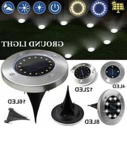 4pc 16LED Solar Power Buried Light Under Ground Lamp Outdoor