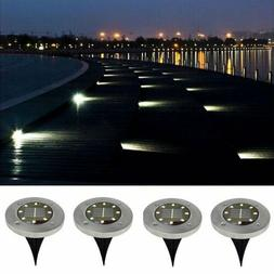 8LED Solar Powered Buried in-ground Light Outdoor Path Yard