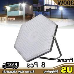 8X 300W LED High Bay Light Gym Factory Warehouse Industrial