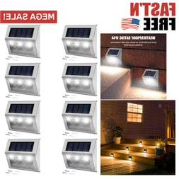 Automatic Solar Step Lights LED 8 Pack Outdoor Path Waterpro