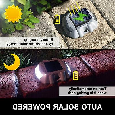 12 pack Solar Pathway Driveway Lights Path Step Road years 10 hours