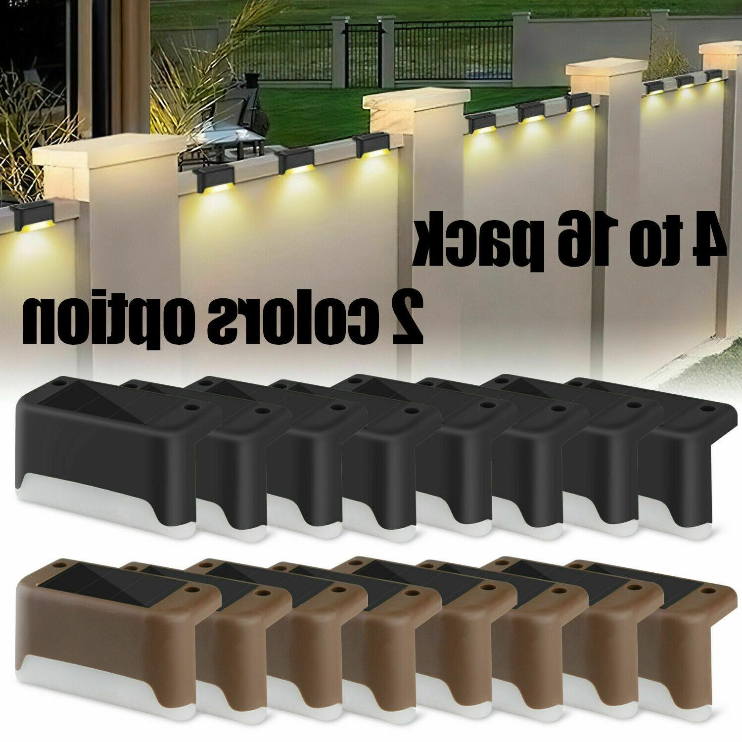 4 16pcs solar led bright deck lights