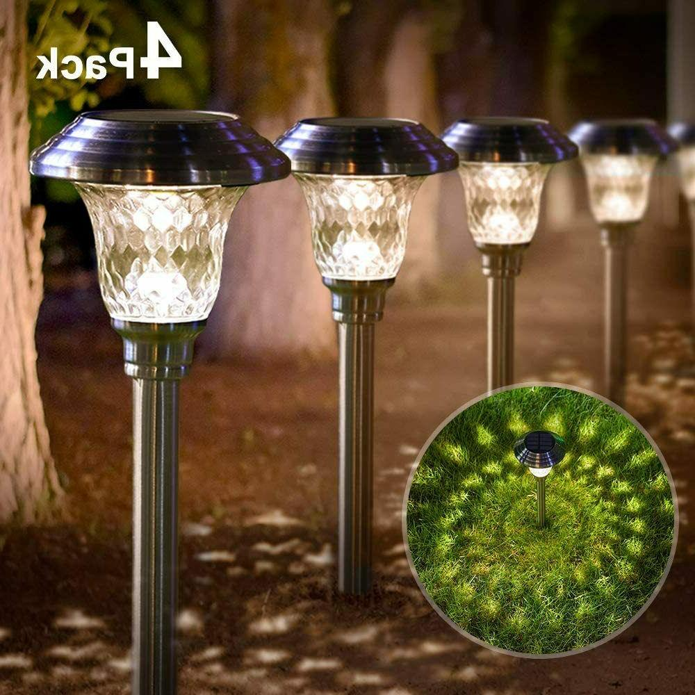 Beau Jardin Solar Lights Pathway Outdoor Garden Path Glass S