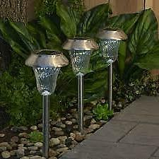 Paradise GL23539SS6 Solar Stainless Steel Path Light, 6-Pack