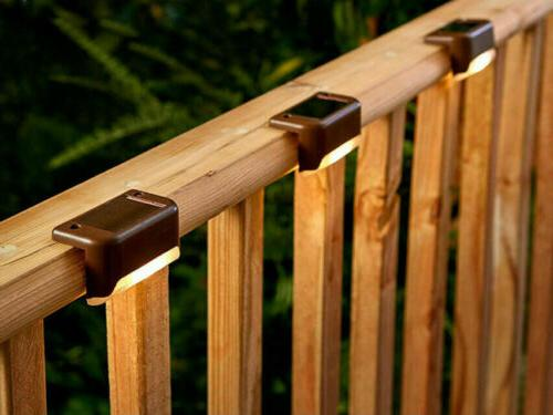 Solar Powered LED Deck Lights Garden Stairs Lamps USA##