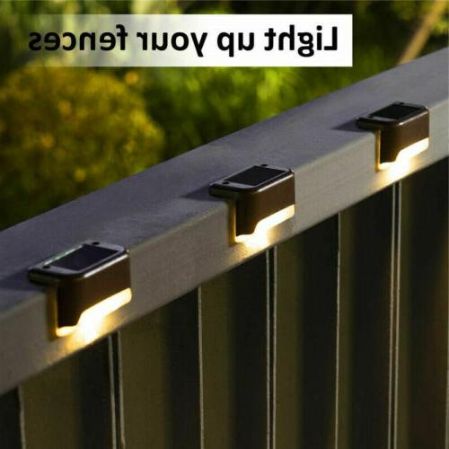 Solar LED Lights Path Stairs Fence USA##
