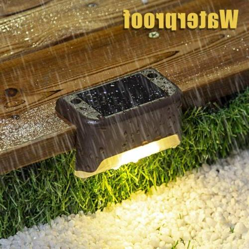 Solar Powered LED Lights Stairs Step Fence Lamps USA##