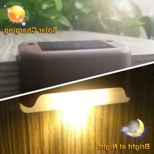 Solar LED Deck Stairs Fence Lamps USA##