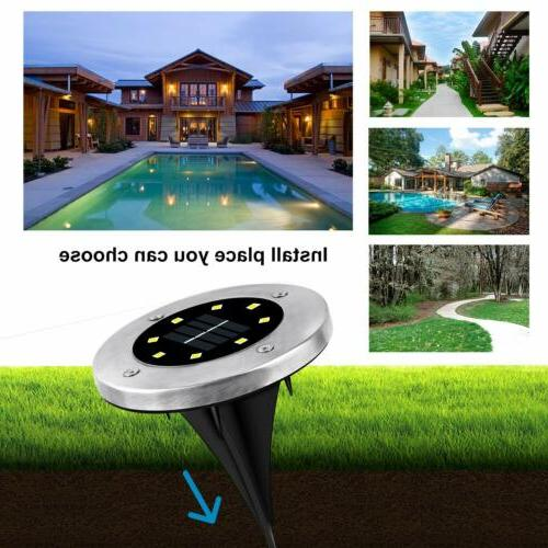 LED Ground Buried Lawn Deck Path Lamp