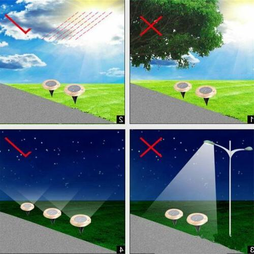 LED Solar Lights Buried Path Outdoor Waterproof