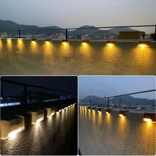 Solar Lights Outdoor Path Stairs Fence Lamps USA##