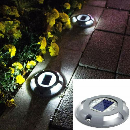 upgraded solar powered led deck lights outdoor