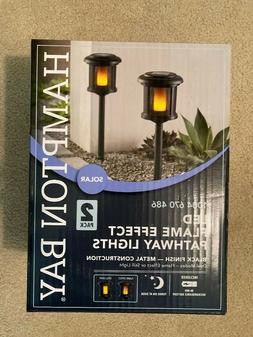 LED Flicker Flame Pathway Light 2-Pack Dusk-to-Dawn Solar Re