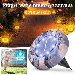 LED Solar Power Buried Light Under Ground Lamp Outdoor Path