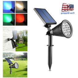 Outdoor Solar Spot Lights,Super Bright 7 LED Security Lamps