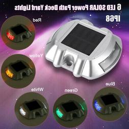 Outdoor Waterproof 6 LED SOLAR Power Path Deck Stud Garden R