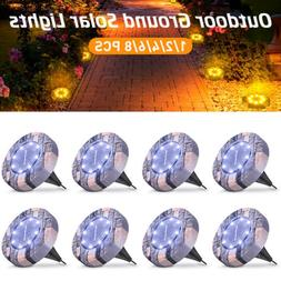Solar Buried Lights 16/8 LED Under Ground Lamp Outdoor Lawn