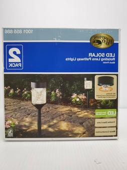 Hampton Bay Solar Integrated LED Path Light with Crackled Gl