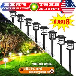 SOLAR LED PATHWAY LIGHTS Set Outdoor Path Light Yard Garden
