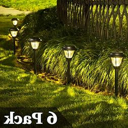 SOLPEX Solar Path Lights Outdoor, 6 Pack LED Solar Pathway L