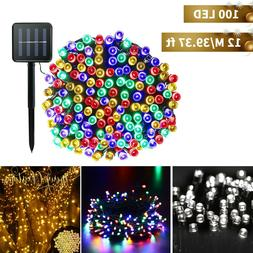 Solar Power 100 LED String Lights Garden Path Yard Decor Lam