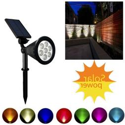 Solar Power 7-LED Spot Light 7 Colors Changing Path Wall Lig