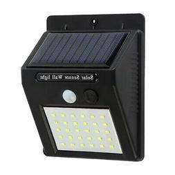 Solar Powered Wall Mount LED Lights For Outdoor Garden Path