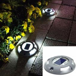 Upgraded Solar Powered LED Deck Lights Outdoor Garden Path I